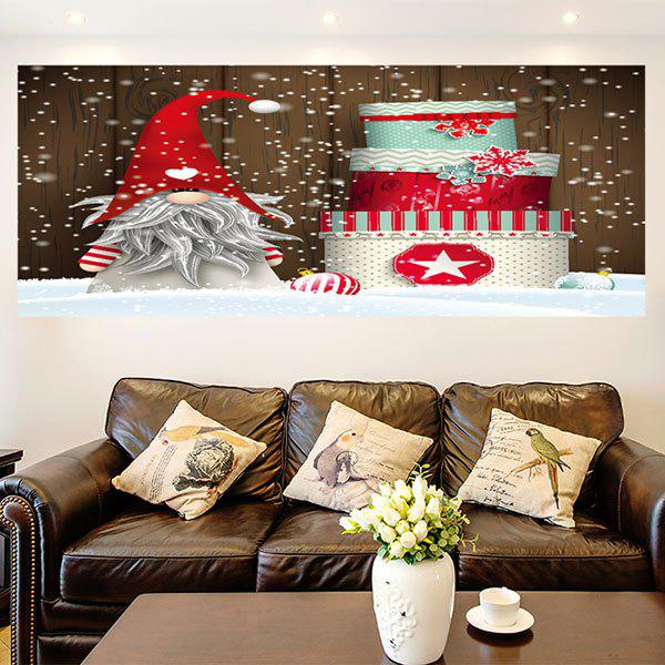 Santa Claus Christmas Cake Pattern Wall Art Painting - COLORFUL 1PC:24*71 INCH( NO FRAME )