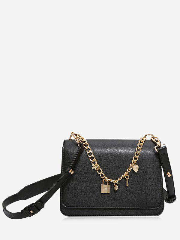 Star Cross Chain Crossbody Bag - Noir