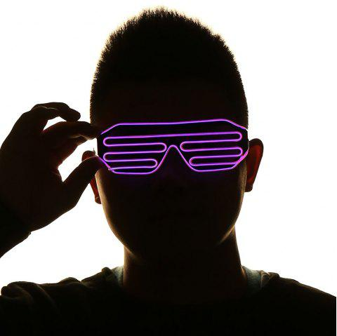 LED Glowing Shutter Party Mask Glasses - Rouge