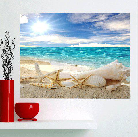 Removable Shell Starfish Beach Waterproof Wall Art Painting - CHARM 1PC:24*47 INCH( NO FRAME )