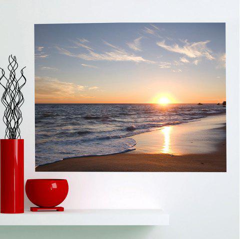 Waterproof Seaside Sunset Printed Multifunction Wall Art Painting - COLORFUL 1PC:24*47 INCH( NO FRAME )