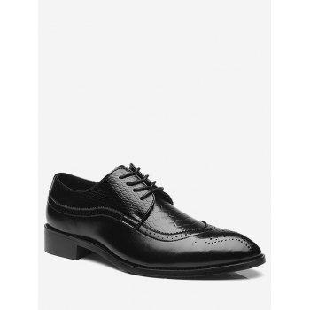 Pointed Toe Embossing Formal Shoes - BLACK 41