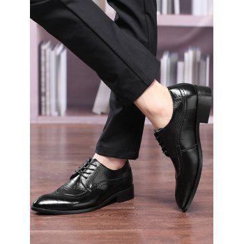Pointed Toe Embossing Formal Shoes - 42 42