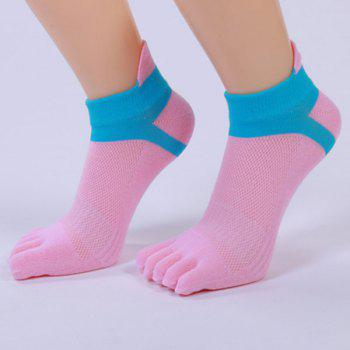 Cotton Blend Five Fingers Toe Ankle Socks -  PINK