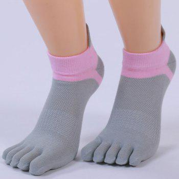 Cotton Blend Five Fingers Toe Ankle Socks -  GRAY