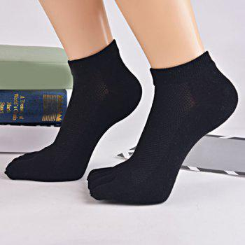 Cotton Blend Five Finger Toe Ankle Socks