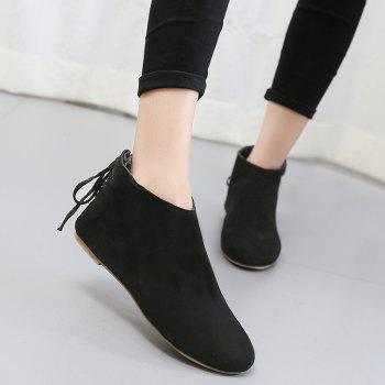 Ankle Flat Pointed Toe Boots - 38 38