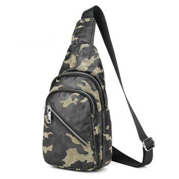 Faux Leather Camouflage Pattern Front Crossbody Bag - GREEN