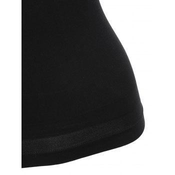 Letter Strap Crossback Sports Camisole - BLACK ONE SIZE