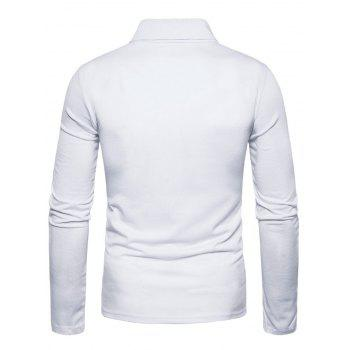 Polyester Panel Long Sleeve Polo T-shirt - 2XL 2XL