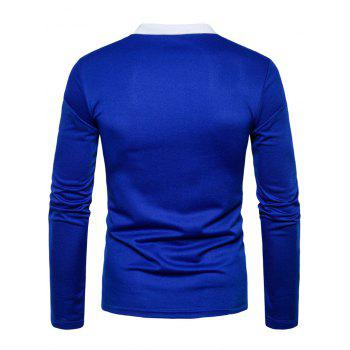 Long Sleeve Edging Polo T-shirt - M M