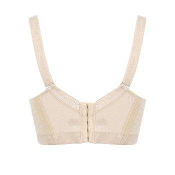 Padded Wirefree Floral Lace Panel Plus Size Bra - COMPLEXION 2XL