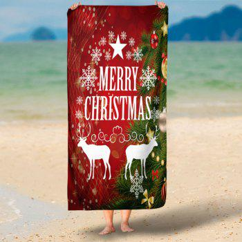 Christmas Deer Water Absorption Bath Towel - RED 75CM*150CM