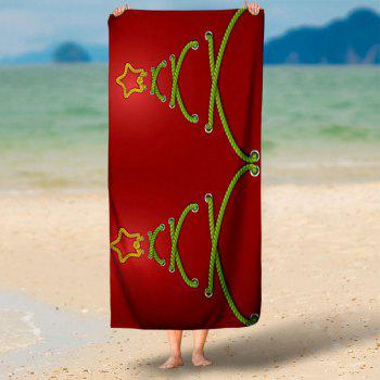 Abstract Christmas Tree Bath Towel - RED RED