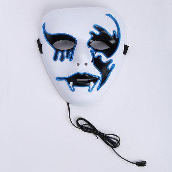 Halloween EL Wire Glowing Cosplay Creepy Mask -  BLUE