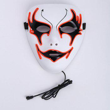 Halloween EL Wire Glowing Costume Mask - ORANGE RED