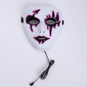 Halloween EL Wire LED Flashing Mask -  PURPLE
