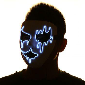 Halloween EL Wire LED Flashing Full Face Mask -  PINK/WHITE