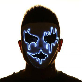 Halloween EL Wire LED Flashing Full Face Mask - PINK AND WHITE PINK/WHITE