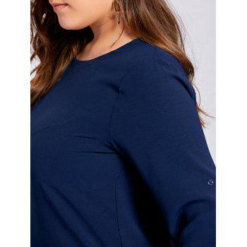 Plus Size High Low Button Embellished Blouse - 5XL 5XL