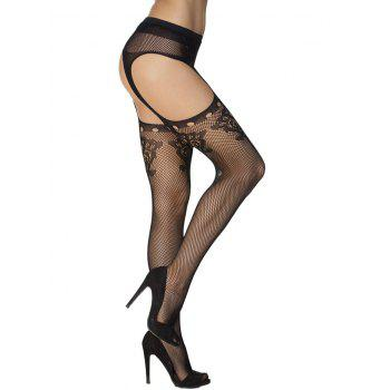 Cut Out Fishnet Pantyhose - Noir ONE SIZE