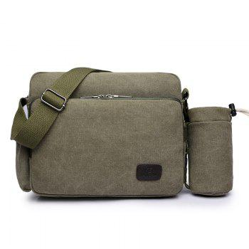 Cup Canvas Multi Function Crossbody Bag - GREEN GREEN