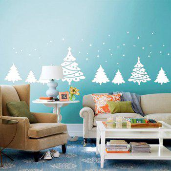 Christmas Tree Pattern Wall Art Sticker - WHITE 56*31CM