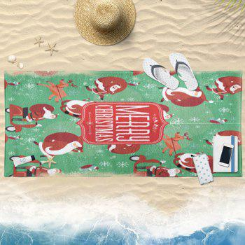 Serviette de bain Cartoon Christmas Santa Claus
