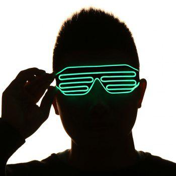 LED Glowing Shutter Party Mask Glasses - GREEN GREEN