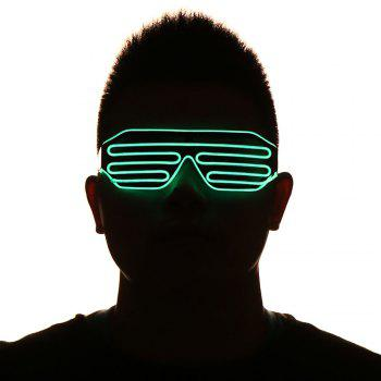 LED Glowing Shutter Party Mask Glasses - GREEN