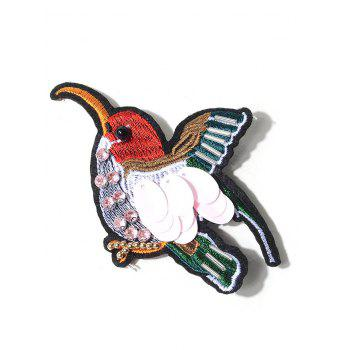 Rhinestone Bird Embroidery Brooch - COLORMIX COLORMIX