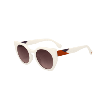 Outdoor Full Rim Butterfly Sunglasses - TEA COLORED