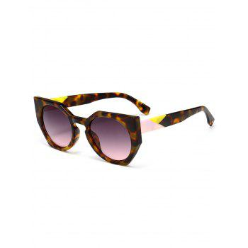 Outdoor Full Rim Butterfly Sunglasses - BROWN BROWN