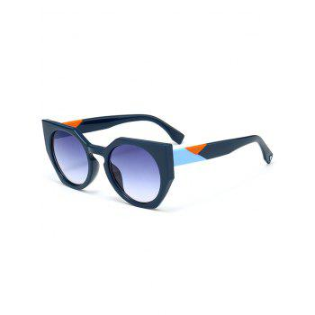 Outdoor Full Rim Butterfly Sunglasses - BLUE BLUE