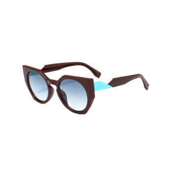 Outdoor Full Rim Butterfly Sunglasses -  BLUE GREEN