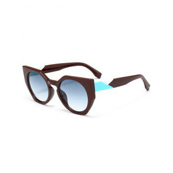 Outdoor Full Rim Butterfly Sunglasses - BLUE GREEN BLUE GREEN