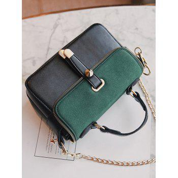 Zip Metal Chain Handbag - GREEN