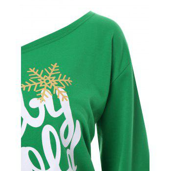Plus Size Baby Its Cold Outside Christmas Sweatshirt - GREEN 5XL