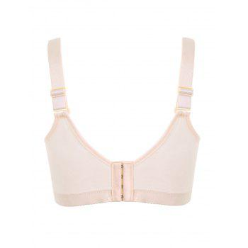 Plus Size Padded Wirefree Floral Lace Bra - COMPLEXION COMPLEXION
