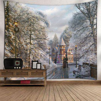 Wall Art Christmas Graphic Bedroom Tapestry - COLORMIX W91 INCH * L71 INCH