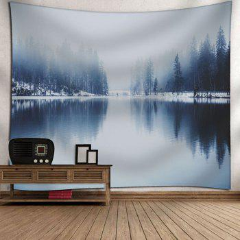 Landscape Printed Wall Hanging Tapestry - GRAY W79 INCH * L71 INCH