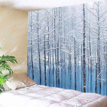 Lake Snowscape Pattern Wall Art Tapestry - GREY WHITE W59 INCH * L59 INCH