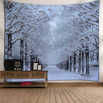 Wall Hanging Snowscape Pattern Tapestry - WHITE W91 INCH * L71 INCH