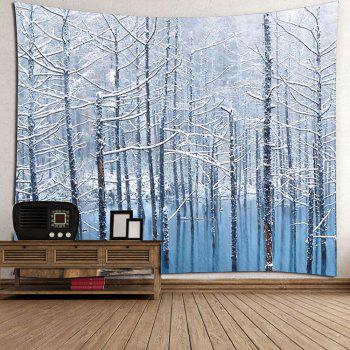 Lake Snowscape Pattern Wall Art Tapestry - GREY WHITE W71 INCH * L71 INCH