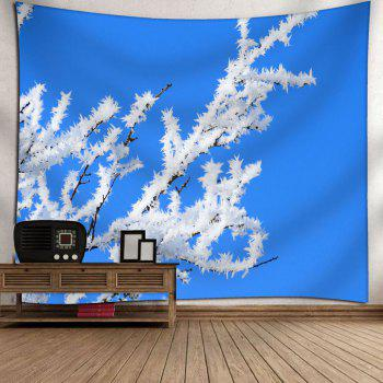 Snow Tree Branch Pattern Wall Tapestry - BLUE W59 INCH * L51 INCH