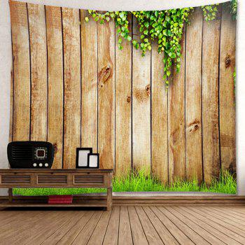 Waterproof Wooden Cirrus Pattern Wall Hanging Tapestry - WOOD W59 INCH * L51 INCH