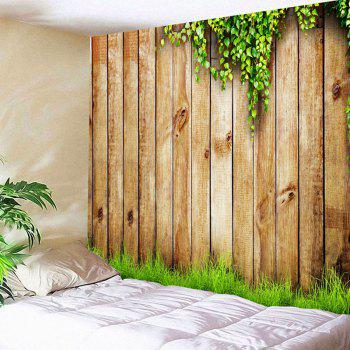 Waterproof Wooden Cirrus Pattern Wall Hanging Tapestry - WOOD W59 INCH * L59 INCH