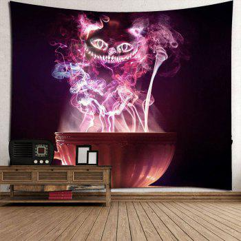 Halloween Cup Goblins Waterproof Tapestry - COLORFUL W79 INCH * L79 INCH