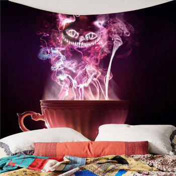 Halloween Cup Goblins Waterproof Tapestry - COLORFUL W79 INCH * L71 INCH
