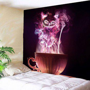 Halloween Cup Goblins Waterproof Tapestry - COLORFUL W91 INCH * L71 INCH